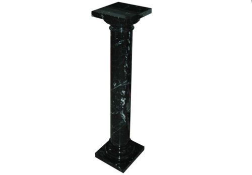 Colonna Marmo Nero Marquina in stile classico Antique Style Design Marble Column