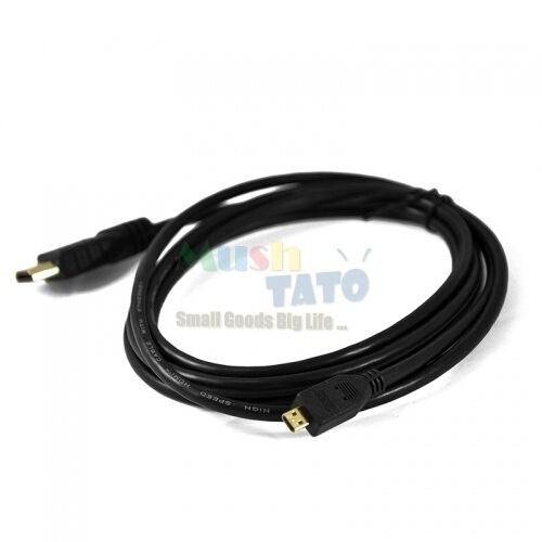 2M Micro HDMI to HDMI Cable Connector Adapter for GoPro Hero3 4 Zenbook Yi cam