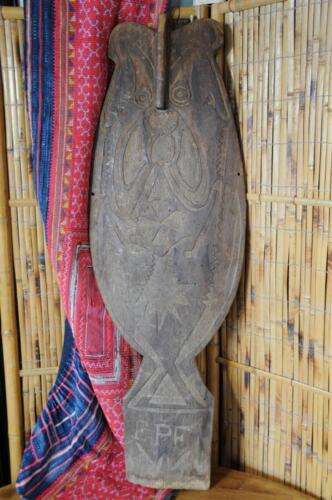 Old Papua New Guinea Spirit / Gope Board… possible missionary influence...