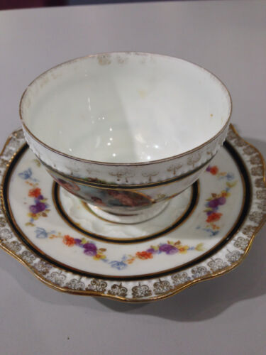 Silesia Louis XVI cup and saucer