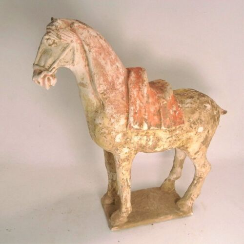 Chinese Tang dynasty (618–907 AD)  painted terracotta horse  31 cm length