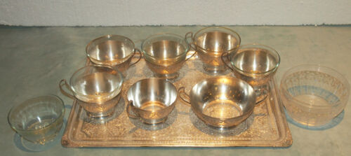 PERSIAN 8 PC 84 SILVER TEA SET FOR 6 LARGE TRAY & SUGAR BY SARABIAN - 48.5 TOZ