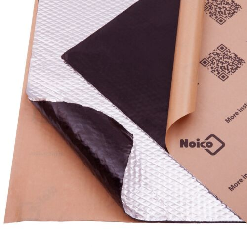 Noico 80 mil 10 sqft Car Sound Deadening Sound Mat Deadener Insulation Material <br/> Buy 80 mil thickness! X 1.5 MORE EFFECTIVE than 50 mil
