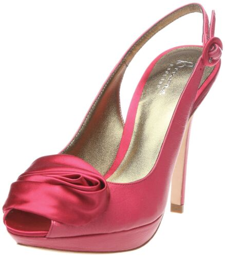 RRP £159 SIZE 3 36 BOURNE BETSY CERISE PINK SLINGBACK CORSAGE LEATHER SHOES
