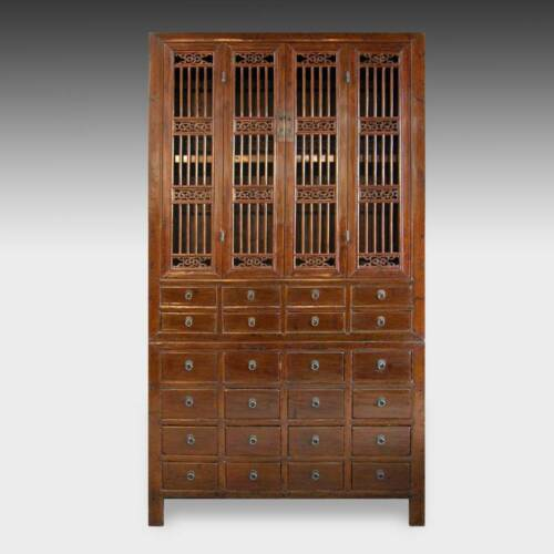 FINE ANTIQUE CHINESE ELM WOOD COMPOUND CABINET FURNITURE CHINA 19TH C