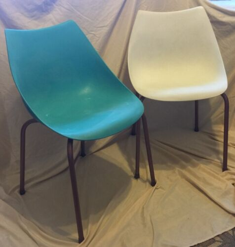 Rare Mid-Century Modern Synder Philadelphia Signed Plastic Chairs Atomic Era