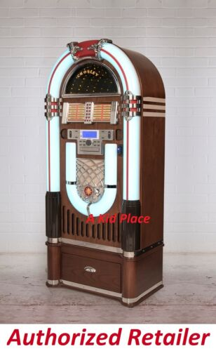 Top Holiday Gifts Crosley iJuke Bluetooth Deluxe Full Size Jukebox CD Radio AND Matching Stand NEW
