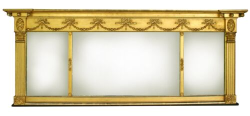 Gold Leaf Overmantel Mirror