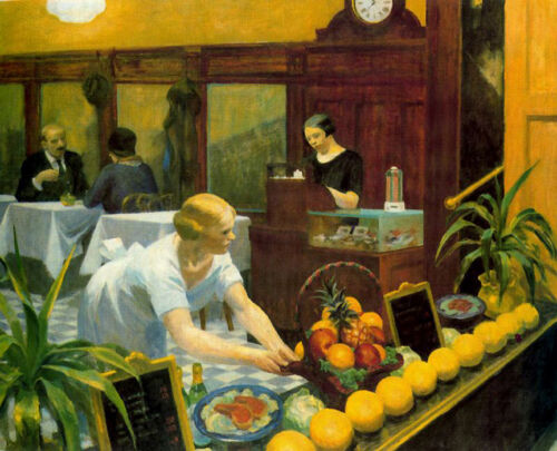 Tables for Ladies  by Edward Hopper   Giclee Canvas Print Repro