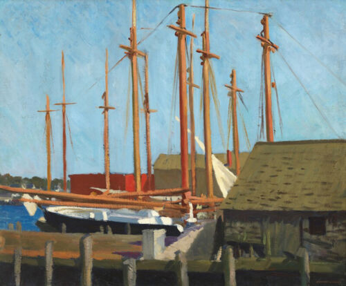 Tall Masts  by Edward Hopper   Giclee Canvas Print Repro