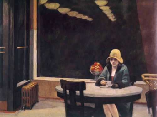 Automat  by Edward Hopper   Giclee Canvas Print Repro