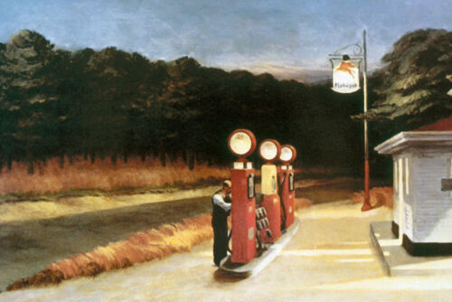 Gas  by Edward Hopper   Giclee Canvas Print Repro