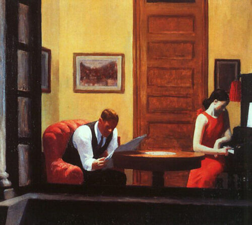 Room in New York  by Edward Hopper   Giclee Canvas Print Repro