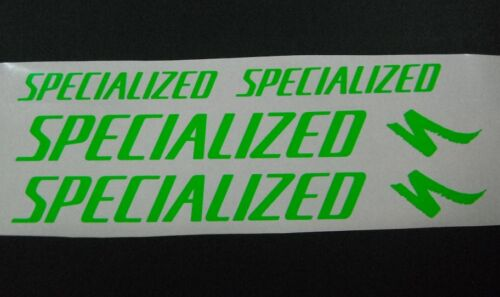 Specialized Fluoro vinyl sticker / decal pk 4 re-spray / restore.3 colours.