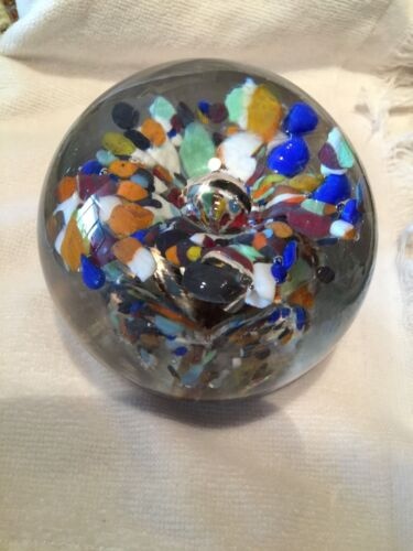 PAPERWEIGHT VINTAGE  MULTI COLORED
