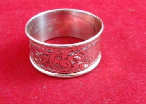 English Sterling Silver Napkin Ring Made in Chester   (#2488)