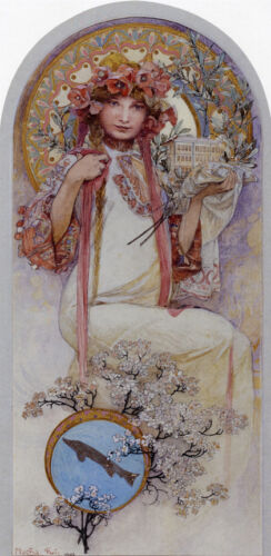 The Girl of Ivancice   by Alphons Mucha   Giclee Canvas Print Repro