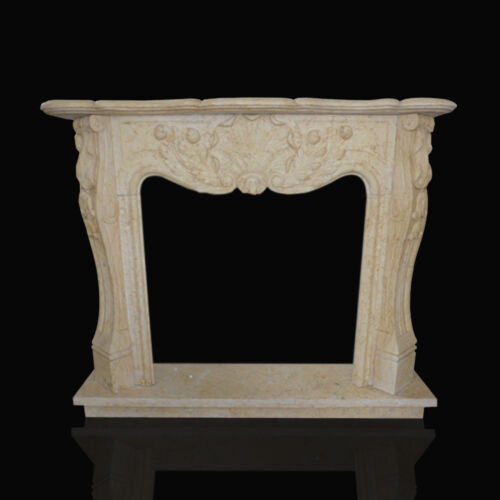 Cornice Caminetto Camino in Marmo Travertino Old Design Fireplace Marble Frame