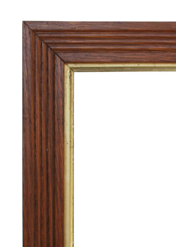Classic Eastlake Design Picture Frame With Reeding and a Gilded Fillet
