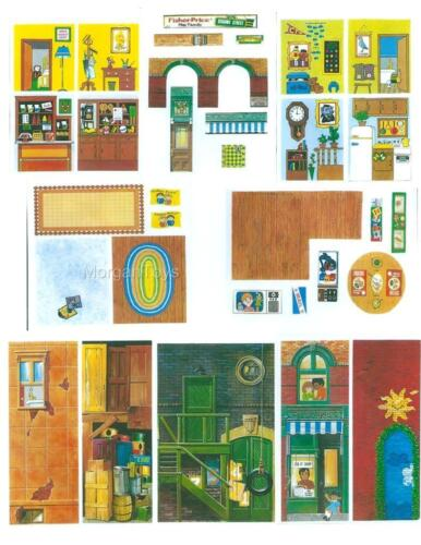 FISHER-PRICE SESAME STREET HOUSE #938 Little People Replacement Lithos Stickers