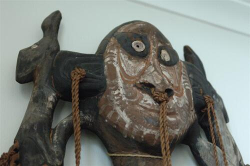 Old Carved Papua New Guinea Sepik River Food Hook... beautiful ageing & patina