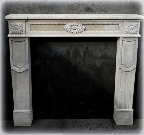 Camino in Pietra Leccese Stile Impero Empire Fireplace Stone CLASSIC HOME DESIGN