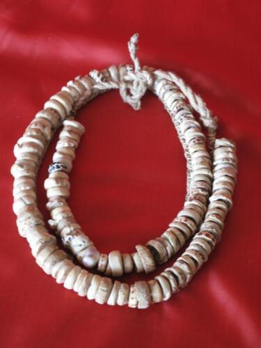 Old New Guinea Central Highlands Currency Kina Shell Necklace… Circa 1960's...