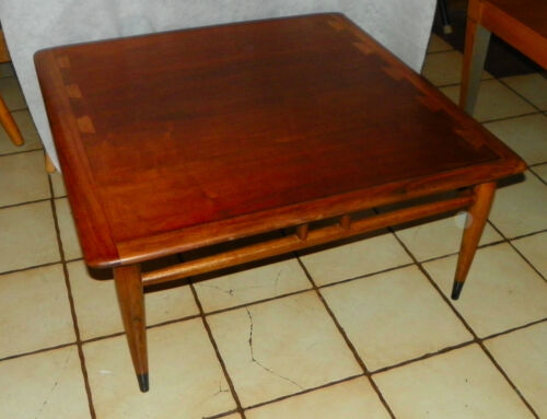 Mid Century Acclaim Square Walnut Ash Coffee Table by Lane  (RP)  (CT131)