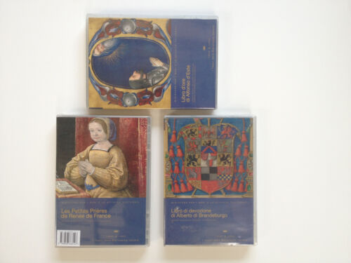 ITALIAN TOP RENAISSANCE MANUSCRIPTS reproductions in 3 CD-ROM + books SET #2