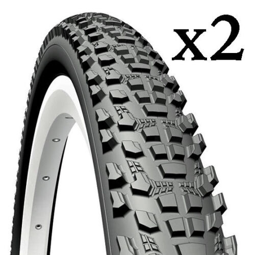 Pair of Mountain Bike Tyres 20, 24, 26, 27.5 or 29 inch + Tube Option
