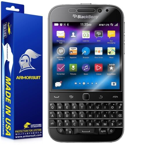 ArmorSuit MilitaryShield BlackBerry Classic Case Friendly Screen Protector NEW