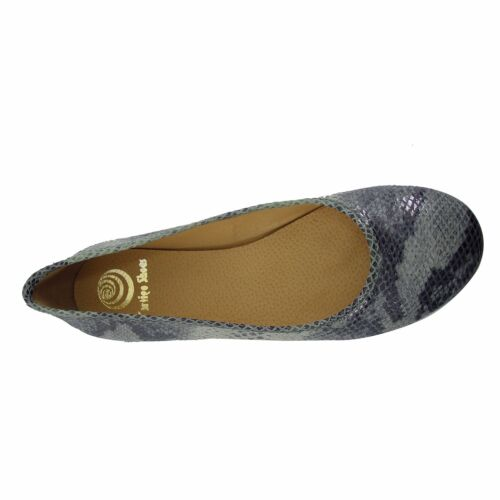 Size 10.5 (EU 42) Snake Print Leather Round Ballet Flats Made in SPAIN Big Shoes