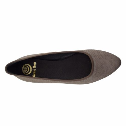 Size 10 Women's Taupe Leather Point Toe Ballet Flats MADE IN SPAIN Big Shoes