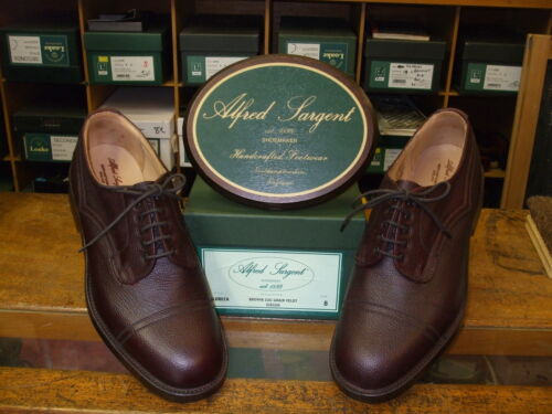 Mens ALFRED SARGENT CALDBECK BROWN VELDTSCHOEN SHOES  SIZE 7,