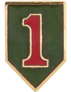 No-Shine (NS-T-P-0001A) 1st Infantry Division Tie TacOther Militaria - 135