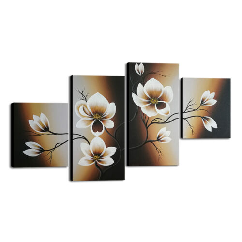 Original Hand Paint Canvas Oil Paintings Pic Wall Art Home Decor Flower Framed