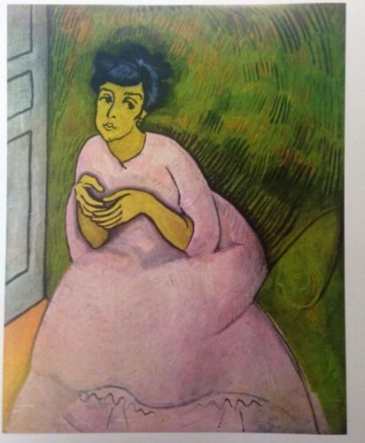 Woman in Rose (MINI PRINT) By Raoul Dufy