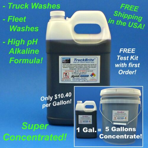 TruckBrite Truck Wash Soap <br/> Super-Concentrated High pH Formula! Only $10.40/Gallon!