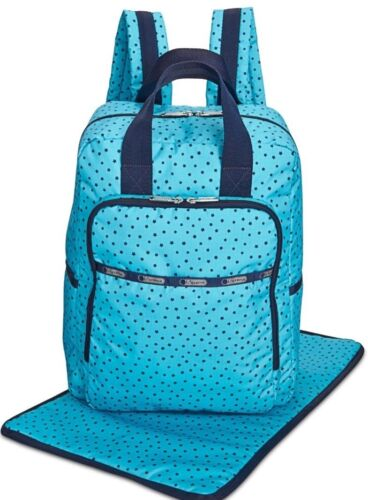 LESPORTSAC UTILITY DIAPER BAG BABY BACKPACK OVERNIGHT CHANGING PAD STARS NWT