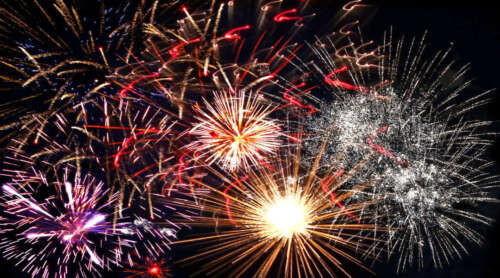 4TH OF JULY FIREWORKS POSTER PRINT STYLE D 20x36 HI RES 9MIL PAPER
