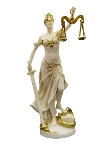THEMIS Greek Goddess Lady of Justice Justitia Handmade Statue Sculpture 7.87in