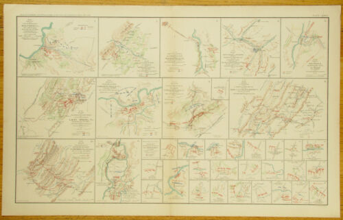 AUTHENTIC CIVIL WAR MAP~SHENANDOAH VALLEY CAMAPIGN-MARYLAND & PENN.-1864Maps & Atlases - 156381