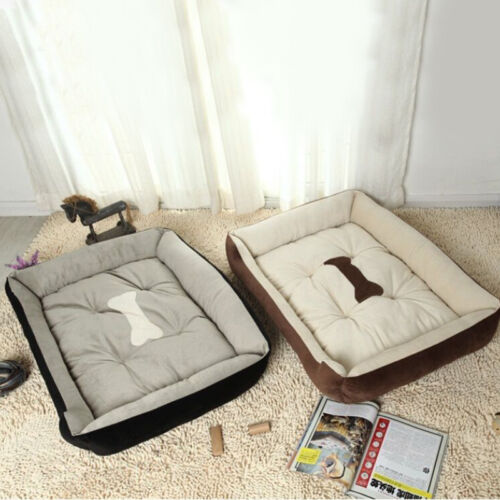 Large Warm Fleece Pet Dog Kennel Cat Puppy Bed Mat Pad House Cushion Comfy