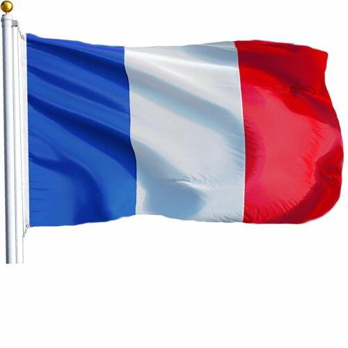FRANCE FRENCH FLAG NEW 3x5ft WITH BRASS GROMMETS USA seller