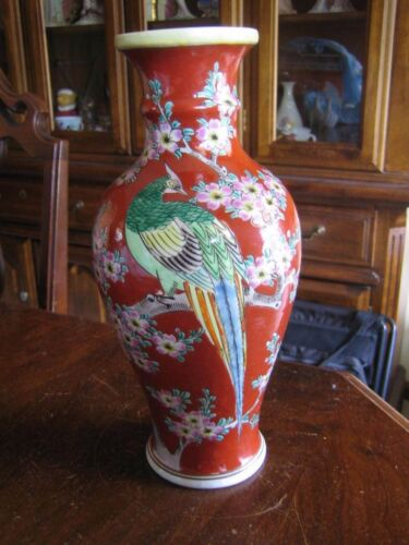 HIGH QUALITY 1920's JAPANESE HAND PAINTED LAMP BASE or VASE
