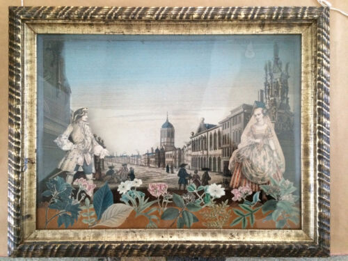 18th Century French Diorama with Decoupage, College of St Mary, Oxford
