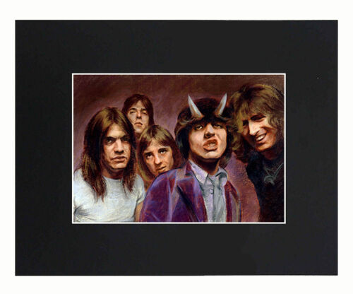 AC & DC Band 8x10 matted Art Print Poster Decor picture Gift Photograph Display