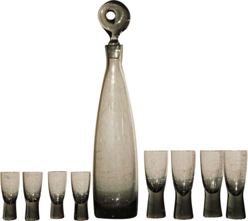 Aristokrat Decanter by Per Lutken for Holmegaard & 8 Canada Glasses