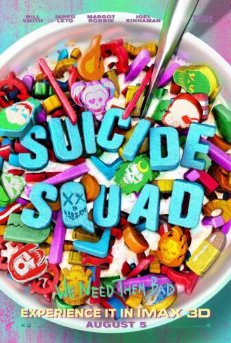 Suicide Squad Movie Poster (24x36) - Will Smith, Jared Leto, Margot Robbie v4