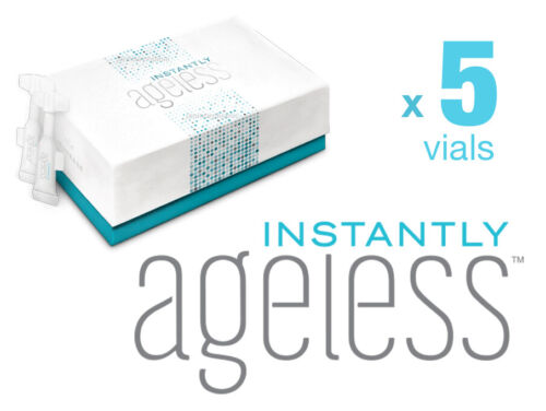 GENUINE✅ JEUNESSE INSTANTLY AGELESS™ •NEW• RESEALABLE VIALS x5 ✅FAST FREE POST📮